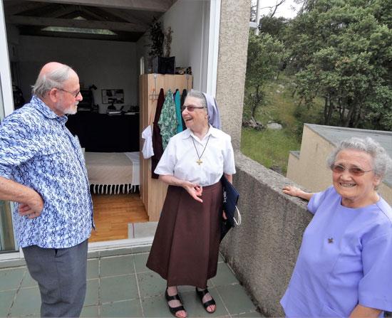 Visite à la communauté de St Matthieu de Tréviers