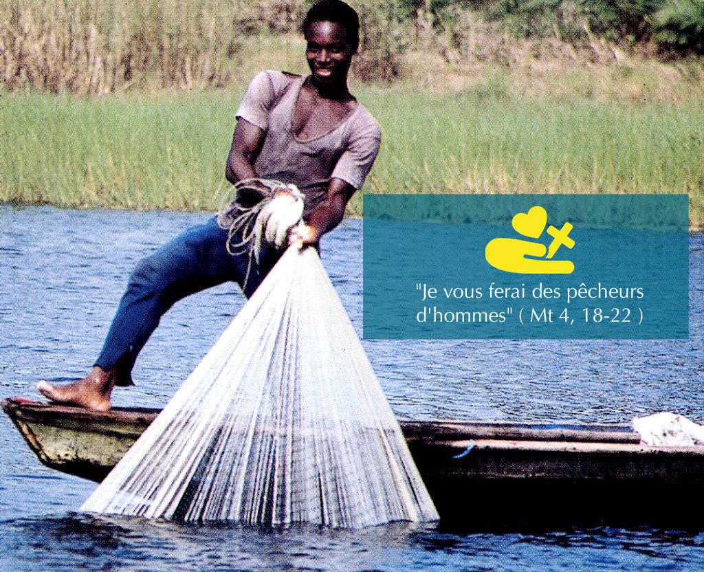 Pêche - Fleuve - barque - Activité missionnaire