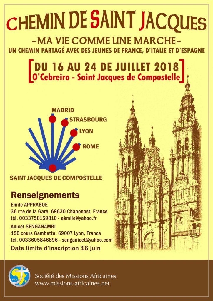 Chemin de saint jacques - évènement sma