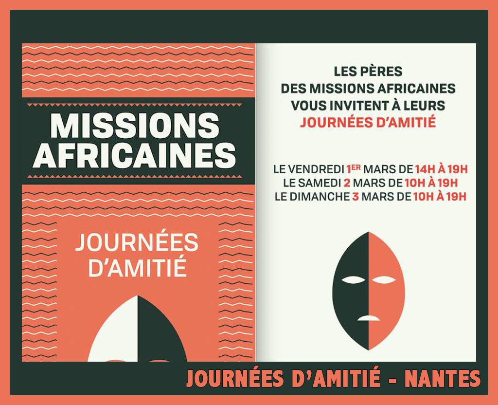 Nantes – Journées d'amitié – 1er, 2 et 3 mars !
