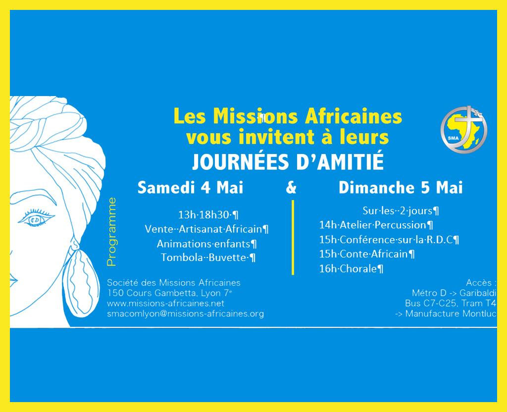 Journées d'Amitié à Lyon 4 et 5 mai