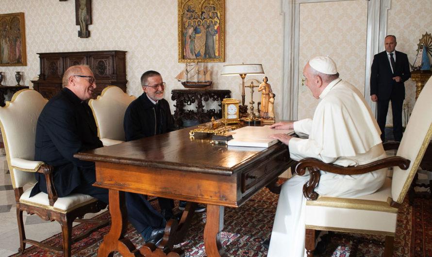 Le pape François a reçu Pierluigi Maccalli