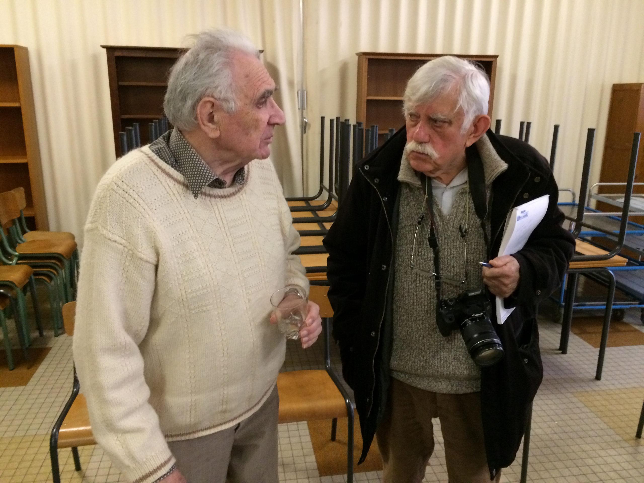 Louis Priou et M. Saulnier